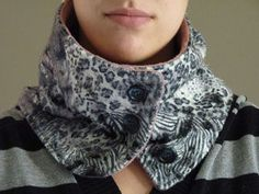 Fashionable neck warmer #sewing #fashion #accessory #scarf