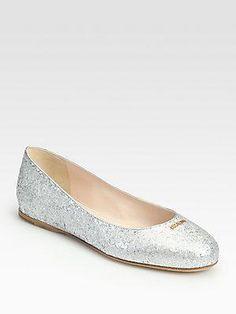 Prada glitter #flats #shoes