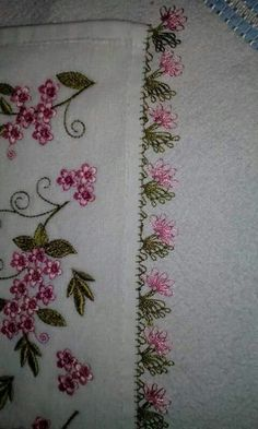 This Pin was discovered by Yas Embroidery Stitches Tutorial, Cross Stitch Embroidery, Embroidery Patterns, Hand Embroidery, Needle Tatting, Needle Lace, Decorative Towels, Lacemaking, Crochet Borders