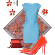 """Red & Blue"" by francieshaffer on Polyvore"