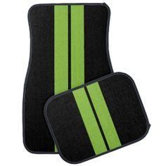 Racing Stripes Floor Mats & Racing Stripes Car Mat Designs | Zazzle