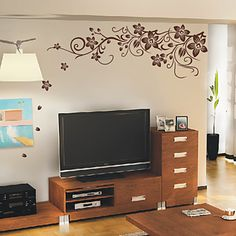 Flowers+Plants+Wall+Decal+Wall+Stickers+–+USD+$+14.99