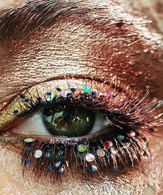#bronze #glitter #makeup #eyes makeup artist de_maria. Electric Youth for Grazia Indonesia August 2016