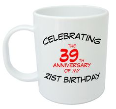 Celebrating 60th Mug - 60th Birthday Gifts / Presents for men, women, gift ideas