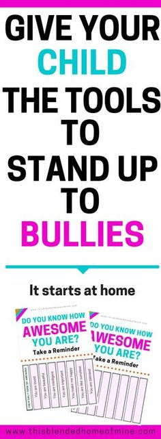 How To Talk to Your Child About Bullying - It Starts at Home - This Blended Home of Mine - Bullying, Bullying Lessons, Stop Bullying