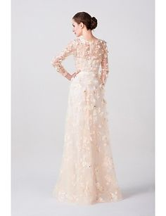 A-line Scoop Floor-length Wedding Dress (Lace/Tulle) – USD $ 199.99