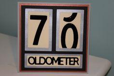 70th Birthday Card - glossy accents and Cricut Alphabet
