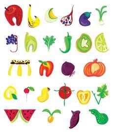 fun fruits illustration artistic