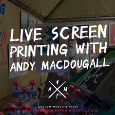 Check out some live screen printing & an interview with screen print legend - Andy MacDougall! http://awsmr.ch/AndyMacScreen