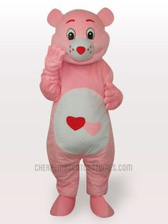 Red Heart Bear Short Plush Adult Mascot Funny Costume & Bubble Guppies Molly-Aris Fancy Dress Costumes Ltd | Party Ideas ...