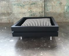 The Low Flat is one of several Modular Dog bed and house designs. This is one of my original bed designs and the Low is perfect for any size dog. The Low has a weight capacity of 200 - 250lbs. The Low Flat in this listing is Black with the black and white patterned pillow. It is completed