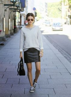 16 Edgy Work Outfits With Sneakers | Styleoholic