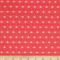 Avalana Jersey Knit Flower Geometric Pink/Pink from @fabricdotcom  This printed stretch cotton jersey knit is perfect for making t-shirts, loungewear, leggings, children's apparel, knit dresses and more! It features a smooth hand and about a 30% four way stretch for added comfort and ease. Colors include coral pink and white.