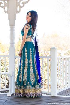 beautiful teal blue lengha