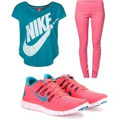 CUTE Nike Workout gear! Nike Outfits, Casual Outfits, Sport Fashion, Look Fashion, Fitness Fashion, Nike Fashion, Fashion Outfits, Nike Workout Gear, Workout Wear