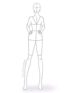 Fashion Figure Drawing, Fashion Model Drawing, Fashion Drawing Dresses, Fashion Design Sketchbook, Fashion Design Drawings, Fashion Sketches, Fashion Illustration Poses, Fashion Illustration Template, Fashion Figure Templates