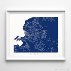 Map posters by Inkist Prints! Modern Montego Bay Jamaica street map print in 70 different colors, perfect for anyone who loves to travel or is away from home. Map Wall Decor, Map Wall Art, Poster Wall, Wall Art Prints, Urban Home Decor, Europe Street, Montego Bay Jamaica, City Art, Ideas