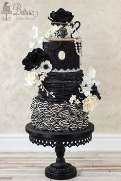 Victorian Gothic chic tea party by Bellaria Cake Design