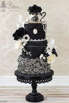 Victorian Gothic chic tea party by Bellaria Cake Design