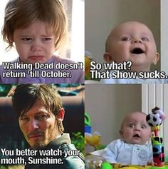 #TheWalkingDead: ☆ Daryl Dixon ☆ You better watch your mouth...