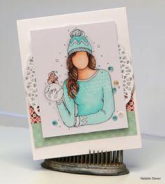 dougnat diaries  Love this winter girl  @copic  @Unitystampco