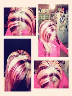 My berry blast hair