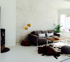 Scandinavian style Interior design Concrete wall