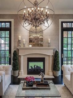 How awesome is this see-through fireplace?! By @hudsongraydesign