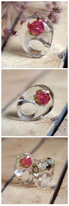 Botanical Resin Rings