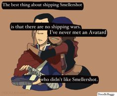 That's the only problem with the Avatar fanbase, they insist on shipping everyone with everyone and everyone else.