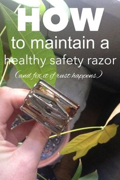 How to maintain a safety razor and fix it if rust happens from www.goingzerowaste.com
