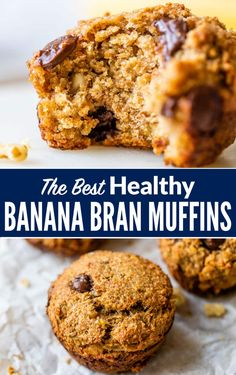 Moist, healthy banana bran muffins made with yogurt, honey and ripe bananas. Good for you and super yummy for filling breakfasts and snacks! Add nuts, chocolate chips, or any of your favorite mix-ins.