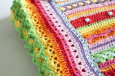 Beschrijving rand haken - the colors, the border, heavenly crochet!!