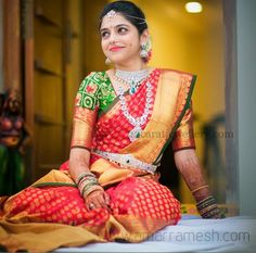 Online saree shopping from an exclusive collection of designer sarees. Buy this prepossessing red traditional designer saree for festival, party and wedding. Sister Of The Groom, Bride Sister, Indian Bridal Fashion, Indian Bridal Makeup, Bridal Beauty, Indian Dresses, Indian Outfits, Henna, Sari