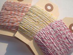 75 Yards of Orange Pink Yellow and White Baker's by SupplyOwl, $3.95