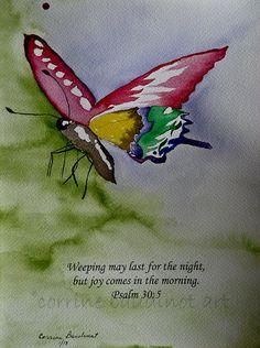 watercolor butterfly  Teen