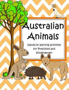 Australian animals theme activities, printables, centers and games for preschool, pre-K and Kindergarten. Animal Activities, Learning Activities, Preschool Activities, Australia For Kids, Australia Crafts, Around The World Theme, Aboriginal Culture, Anzac Day, Australian Animals