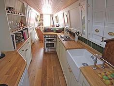 5 Most Critical Components To Your Boat Building Plans - Tools And Tricks Club Narrowboat Kitchen, Narrowboat Interiors, Mini Loft, Canal Boat Interior, Sailboat Interior, Deco Studio, Houseboat Living, Floating House, Tiny House Movement