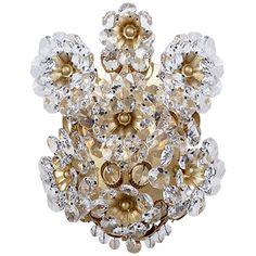 Beautiful fem floral crystal sconce!