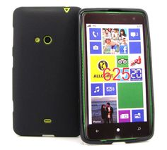 For Nokia Lumia 625 Black Soft Plastic Cover Gel Case + Film #UnbrandedGeneric