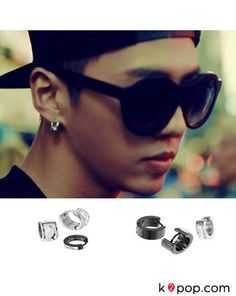 K2POP - STAR JEWELRY ( B.A.P ) WHITE MIRROR ONE TOUCH EARRING