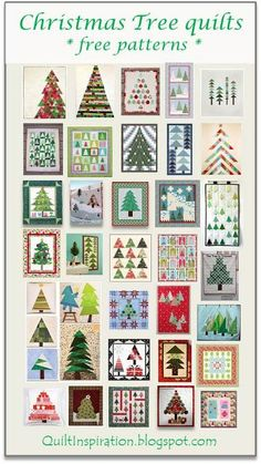 Free pattern day:  Christmas quilts - trees! Updated April, 2016.