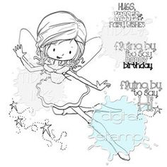 Willow the Greeting Fairy | Digital Stamp