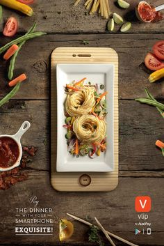 Dinner Plates Resemble Mobile Devices In These Well-Crafted Ads By Aval Pay App food design Food Graphic Design, Graphisches Design, Food Poster Design, Menu Design, Food Design, Design Posters, Stand Design, Flyer Design, Mobile Advertising