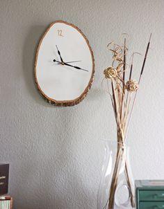 DIY Wood Slab Wall Clock