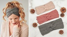 Easy Crochet Headband Tutorial - Picot Headband Tutorial - Free Crochet ... Crochet Headband Tutorial, Easy Crochet Headbands, Crochet Headband Pattern, Easy Crochet Patterns, Crochet Ideas, Crochet Twist, Quick Crochet, Free Crochet, Knit Crochet