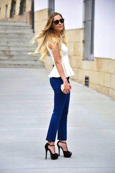 ¡Las mejores maneras de usar una blusa peplum!