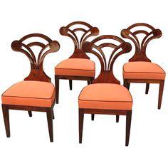 """Modern"" designed Biedermeier chairs c1820's"