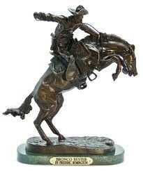 Remington Sculptures *** Bronco Buster *** 100% Solid Bronze