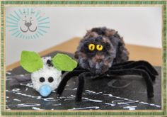 Pompon Maus und Spinne ... pompon mouse and spider